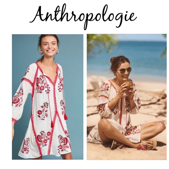 84c521ecf2f7 Anthropologie Dresses | Anthro Ranna Gill Hadley Embroidered Tunic ...